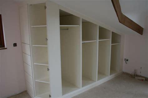 Slanted Ceiling Closet Design by Sloped Ceiling Closet Home Renovations
