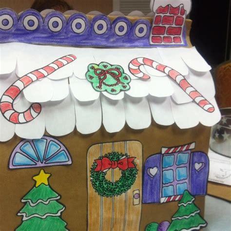 Paper Bag Gingerbread House Craft - paper bag house kinder gingerbread