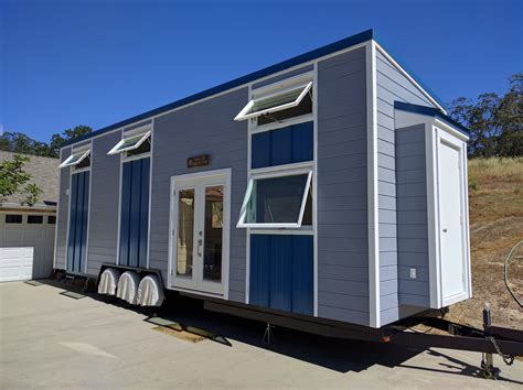 modern tiny house on wheels tiny houses on wheels floor father and son build modern tiny house