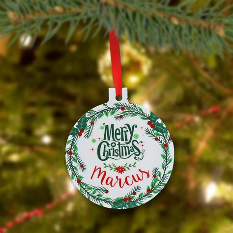 personalized quot christmas ball quot ornament monogram online