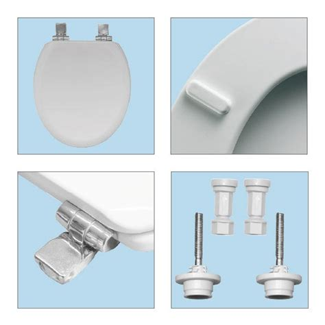 bemis toilet seat hinges bemis chicago soft toilet seat with chrome hinges