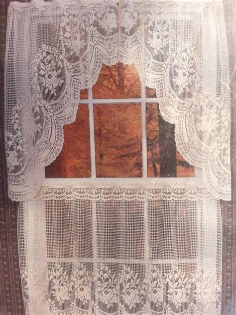 swag lace curtains victorian rose lace curtain swags tiers etc great