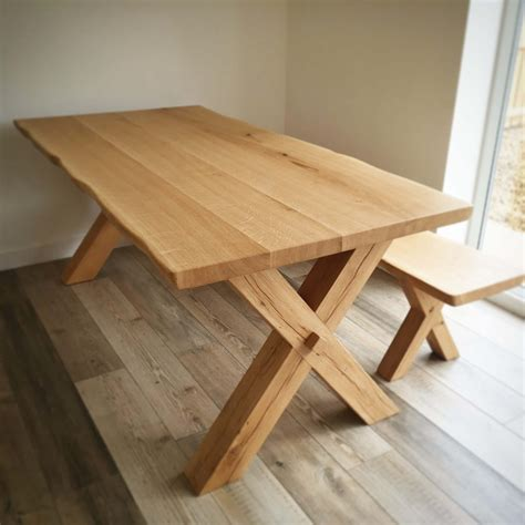Oak Dining Table Solid Oak Dining Table Traditional Beams