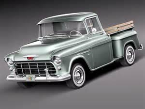 1955 Chevrolet Models Chevrolet 1955 3d Model Max Obj 3ds Fbx C4d Lwo Lw
