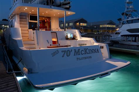 boat lights under swim platform review mckinna yachts 70 pilothouse motoryacht page 2