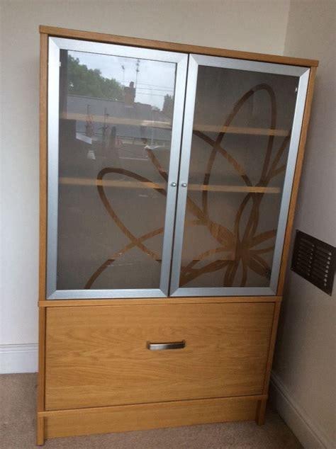 Ikea Filing Cabinet Uk Ikea Effektiv Oak Finish Home Office Filing Cabinet Cupboard With Glass Doors Office