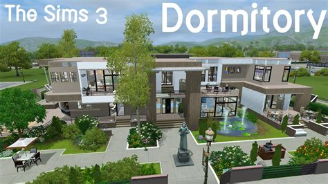 Modern Mansion Floor Plans the sims 3 dorm from the let s build youtube
