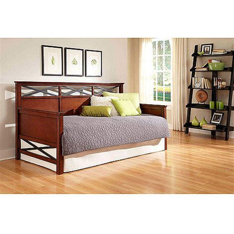day beds walmart lexington wood daybed black merlot furniture walmart com
