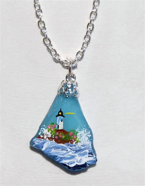 glass necklace sea glass rock necklaces sweet sherryann