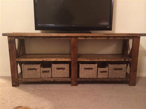 Tv Console Table White Rustic X Tv Console Table Diy Projects