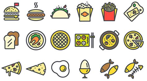 Color For Calm by List Of Free Food Icons For Restaurant Themed Uis Designmodo