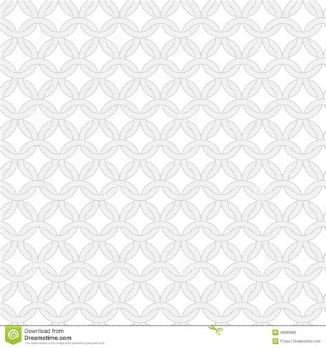 Gorden Ring Motif Ranium White simple vector seamless interwoven rings pattern stock photography image 26080682