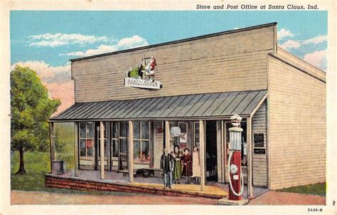 Logansport Post Office by Santa Claus Indiana Post Office Store View Antique