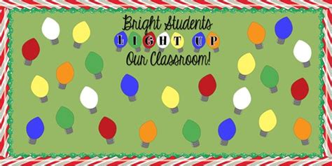 bright students light up our classroom christmas