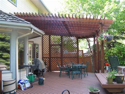 Lovely Wooden Slate Roofing As Pergola Covers As Well As