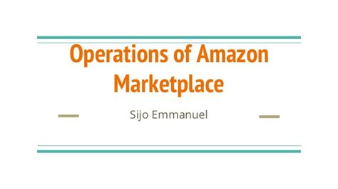 amazon marketplace operations of amazon marketplace