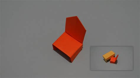 How To Make A Paper Table - how to make an origami chair