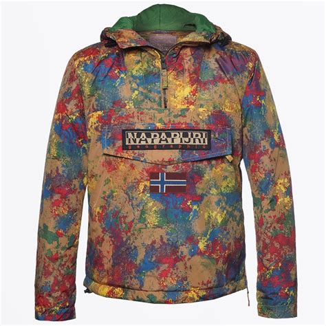 rainforest printed pullover paint winter coats for