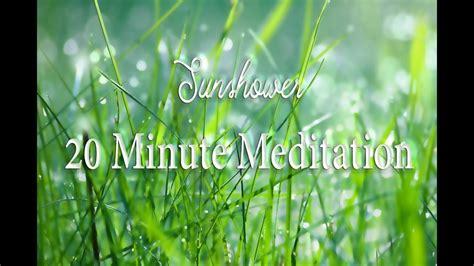 sunshower  minute meditation timer dewdrop