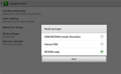 Tablet Jaringan 3g cara pilih mode jaringan 2g dan 3g smartphone dan tablet pc