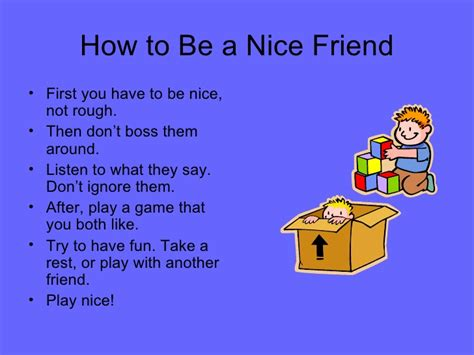 how to a to be how to be a friend