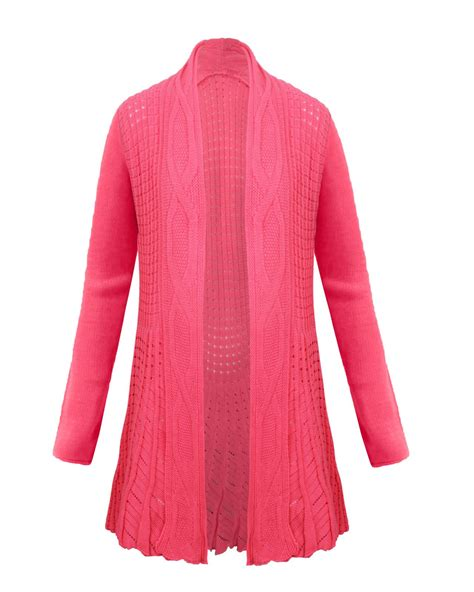 cable knit cardigan womens knitted waterfall top jumper dress womens cable