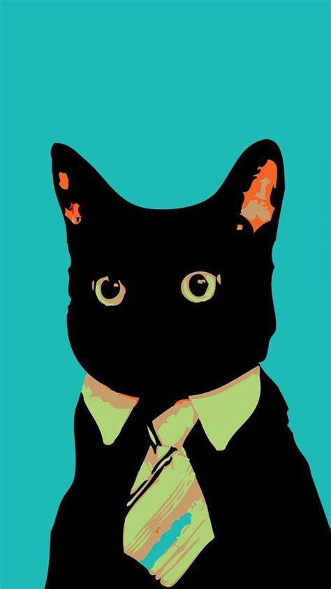 wallpaper business cat funny business cat hd wallpaper iphone 6 plus