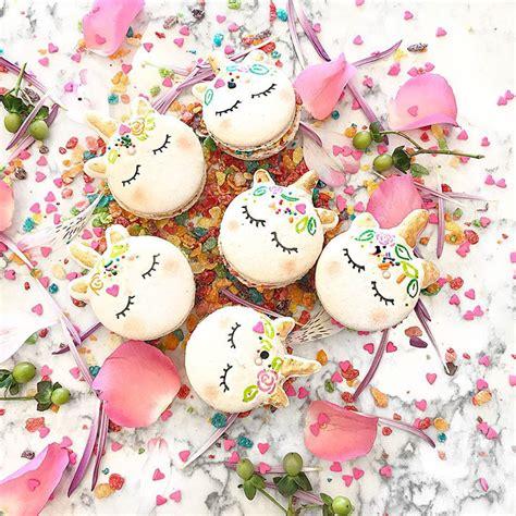 unicorn macarons    magical dessert  bored