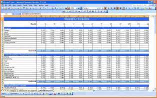 monthly spending template 8 monthly spending spreadsheet excel spreadsheets