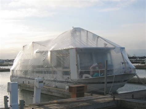 boat wrapping for winter about we live on a boat
