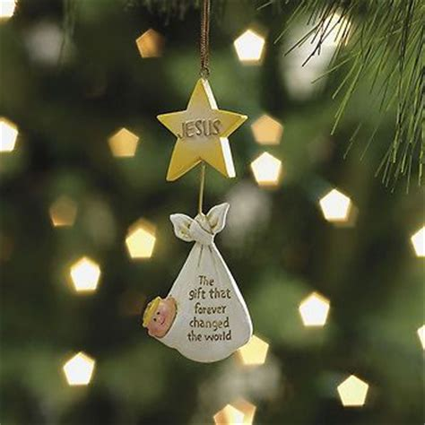 set 4 baby jesus ornaments christian christmas tree