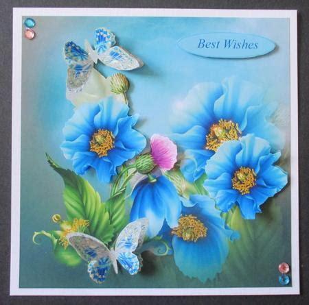 poppy davina poppy blue butterflies topper with decoupage cup629757