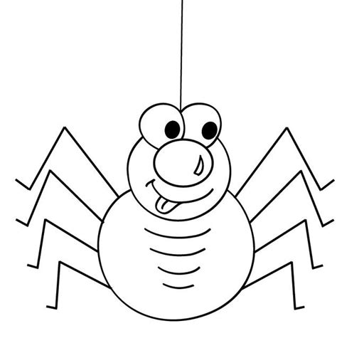 cute animal spider cartoon coloring page coloring pages