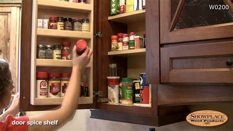wall spice cabinet with doors spice rack in a wall cabinet showplace kitchen