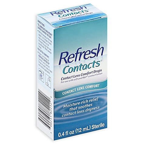 Refresh Contacts refresh contacts 174 4 oz contact lens comfort drops bed