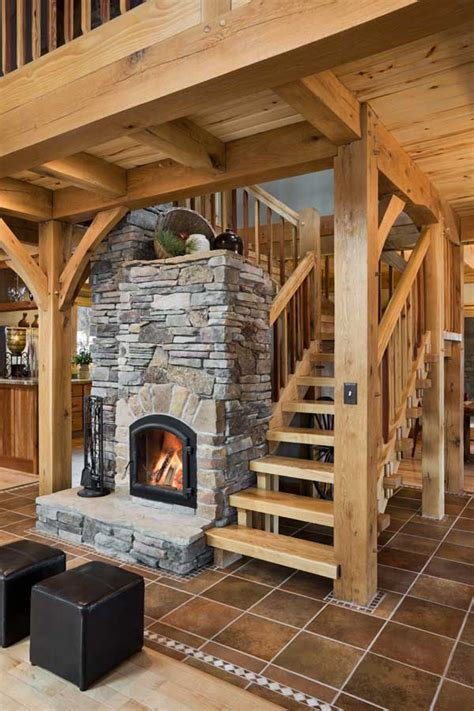Russian Fireplace Plans by Small Green Affordable A Well Designed Timber Home In Colorado