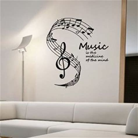 wall art designs: cool musical note wall art removable