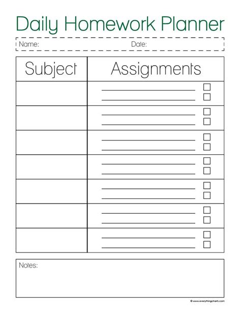 weekly homework planner templates franklinfire co