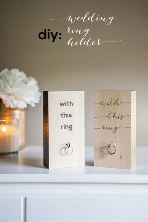 Wedding Ring Holder by Make Your Own Wooden Block Wedding Ring Holder