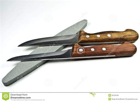 two kitchen knife and whetstones royalty free stock photos image 20726168