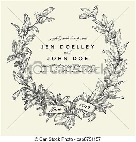 vector wedding wreath background. easy to edit. perfect