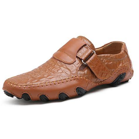 Genuine Leather Oxfords big size hook loop genuine leather oxfords shoes