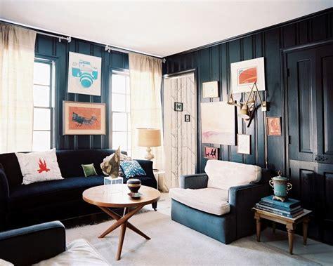 dark blue paint living room peinture salon moderne apprivoisez les couleurs sombres