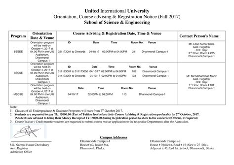 Wtamu Mba Fall Payment Deadline by Orientation Course Advising United International