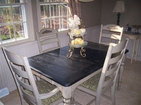 Dining Table Upcycle Ideas Black And White Upcycled Dining Table Gettin Crafty With