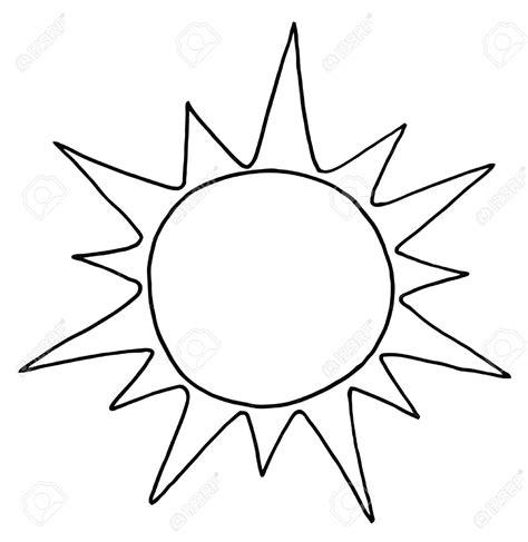 Sun Outline Clip by Sun Outline Clipart Clipart Best