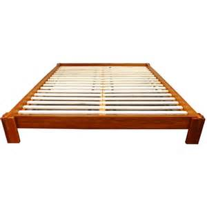 Japanese Platform Bed Frame Furniture Quality Zen Simple Japanese Design Platform Bed Walnut Stain 3 Sizes