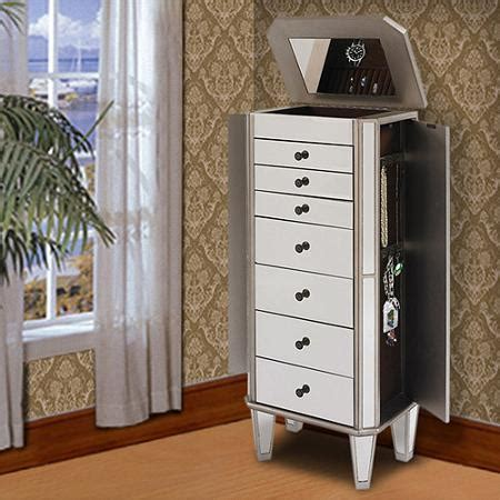 powell mirrored jewelry armoire with silver wood powell mirrored wooden jewelry armoire silver
