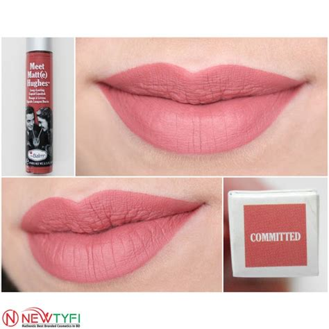 The Balm Hughes Matte Lipstick Waterproof Makeup the balm meelegant touch matte hughes lipstick committed makeup cosmetics in bangladesh