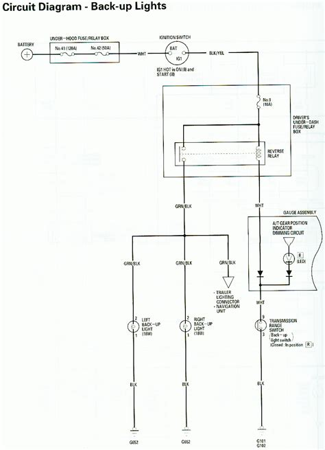 light wire location in backup wiring diagram